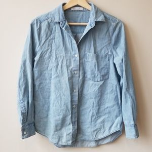 Everlane Sz XS Relaxed Jean Shirt